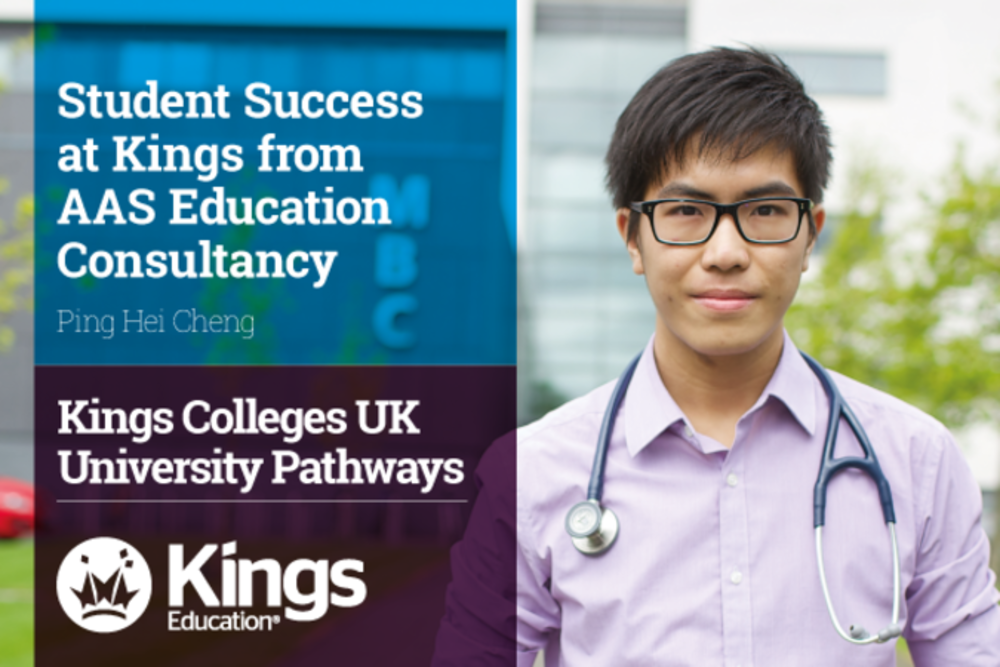 Student success at kings from aas education consultancy ping hei cheng
